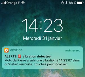 Le GeoRide vous notifie par SMS quand votre moto bouge