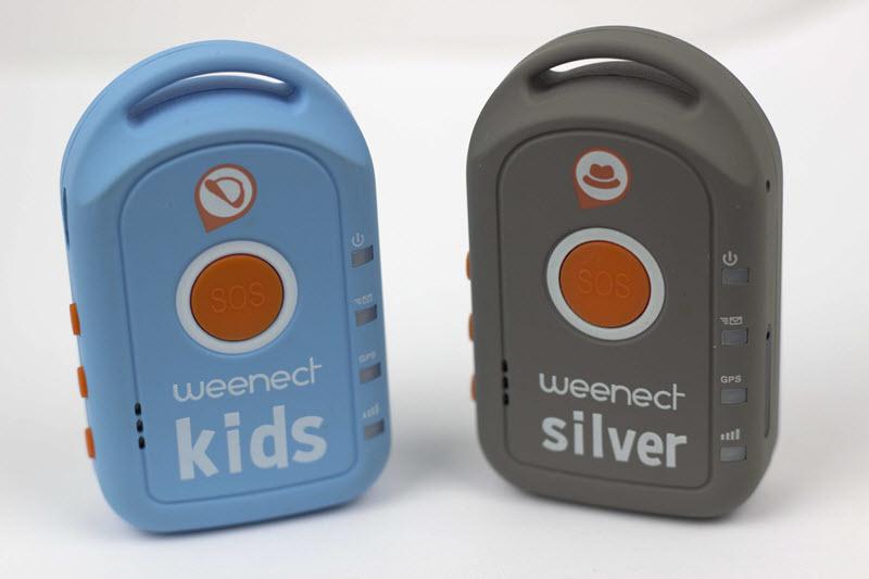 Weenect Kids à coté d'un Weenect Silver